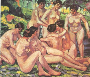 En un clima alegre y lúdico el pintor español Francisco Iturrino (Santander, 1864 – Cagnes-sur-Mer, 1924) nos presente esta belleza impresionista