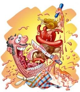 Alimantación riesgoza con alto contenido de colesterol