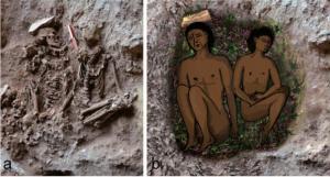 Enterramientos de la cueva de Raqefet, en Israel