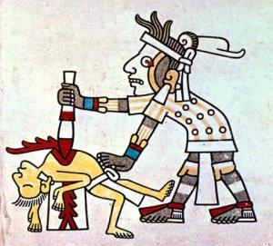 Los sacrificios humanos, los ofrecimientos a Huitzilopochtli, Azteca