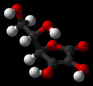 Molécula de ácido ascórbico (vitmina C)