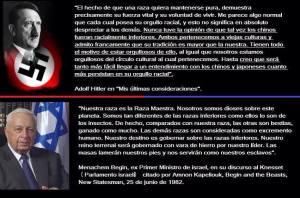 Discursos enardecedores de dictaros y genocidas, A. Hitler y B. Netanyahu