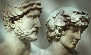 El emperador Adriano y su joven amante Antínoo
