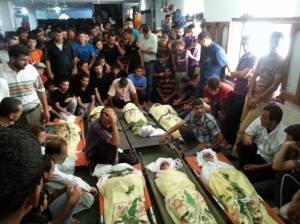 Niños asesinados por las bombas israelí