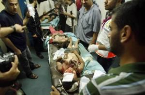 Niños heridos en un ataque aéreo israelí