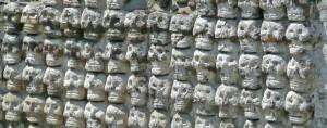 Restos humanos, Templo Mayor Tzompantli