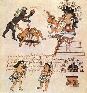 Los sacrificados a Xipe Tótec eran desollados después de muertos. Su piel era utilizada por los sacerdotes que, poniéndosela encima, personificaban al dios.