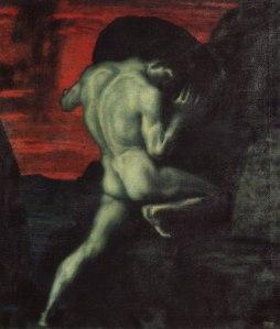 Sísifo, por Franz von Stuck. Friedrich Gottlieb Welcker (1774-1868, sugirió que la leyenda es un símbolo de la vana lucha del hombre por alcanzar la sabiduría.