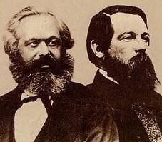 Carlos Marx y  Federico Engels