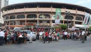 Acarreo electoral Plaza de Toros