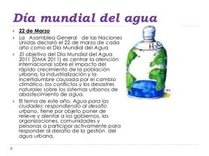 Dia mundial del aguadiapositivas-respondiendo al desafío urbano