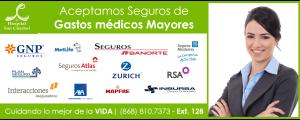 Aceptamos Seguros de gastos medicos mayores