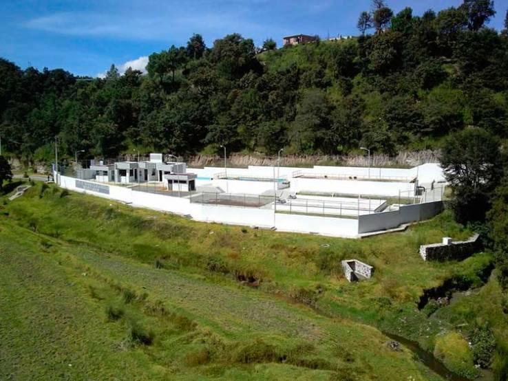 Planta de tratamiento de aguas residuales en Santa Rita Tlahuapan